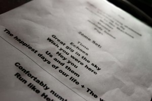 Set list web